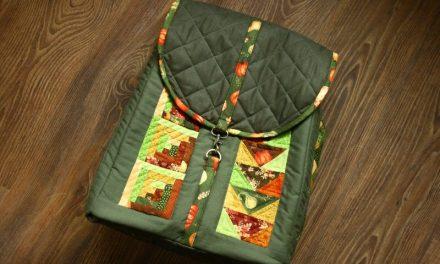 Őszi patchwork hátizsák