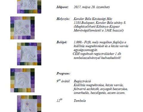 Foltomiglan Foltvarró kör kiállítás és közös varrás – Pestszentlőrinc 2017.05.20.