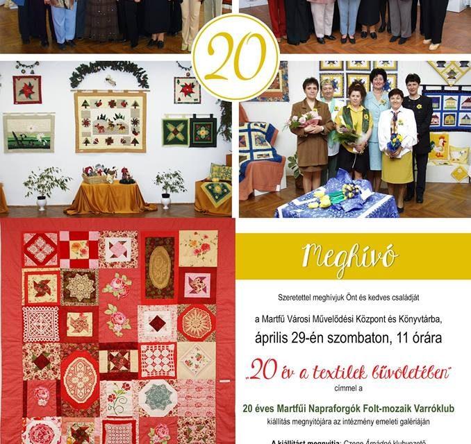 Martfűi Napraforgó Klub kiállítása 2017.04.29.