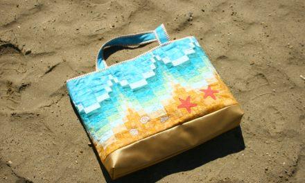 Bargello mintás strandtáska