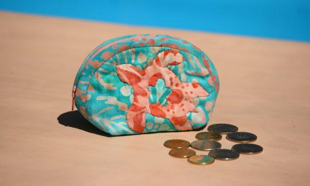 Patchwork pénztárca teknőssel