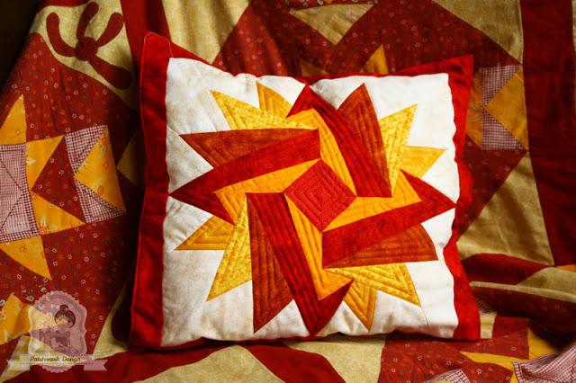 Indián nyár patchwork párnahuzat