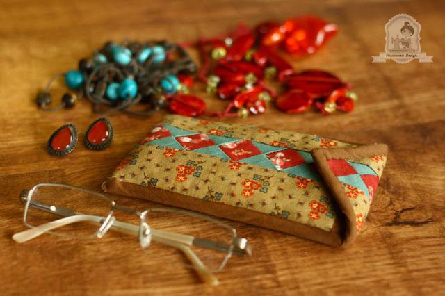 Seminol mintás patchwork szemüvegtok