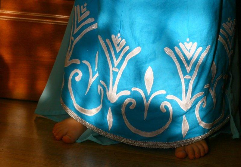 Elsa hercegnő jelmez foltvarrással