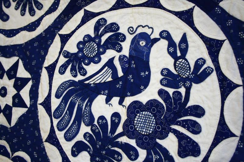 Gyönyörű magyar kékfestő quiltek