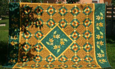 Margarétás patchwork ágytakaró 2. rész:összeállítás, tűzés, szegés