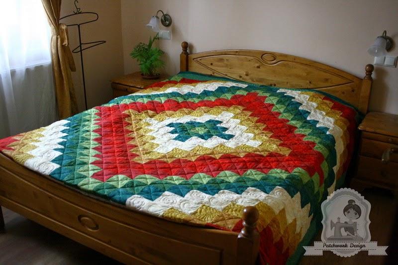 Utazás a világ körül -patchwork ágytakaró