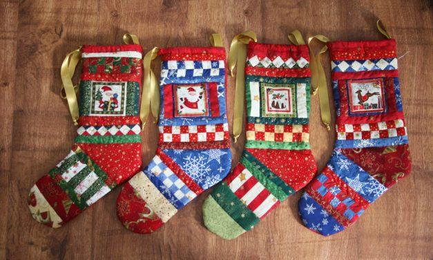 Seminol mintás karácsonyi zokni (Mikulás csizma)