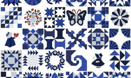 Varrjunk együtt kékfestő quiltet!