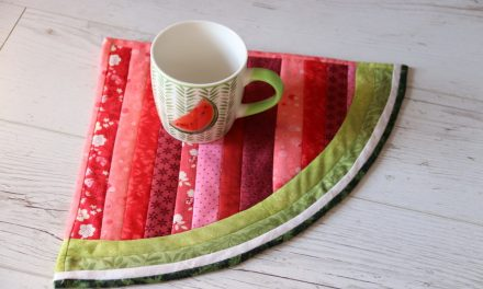 Dinnye-szelet alakú patchwork tányéralátét