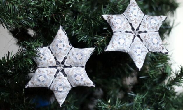 Patchwork karácsonyi csillag