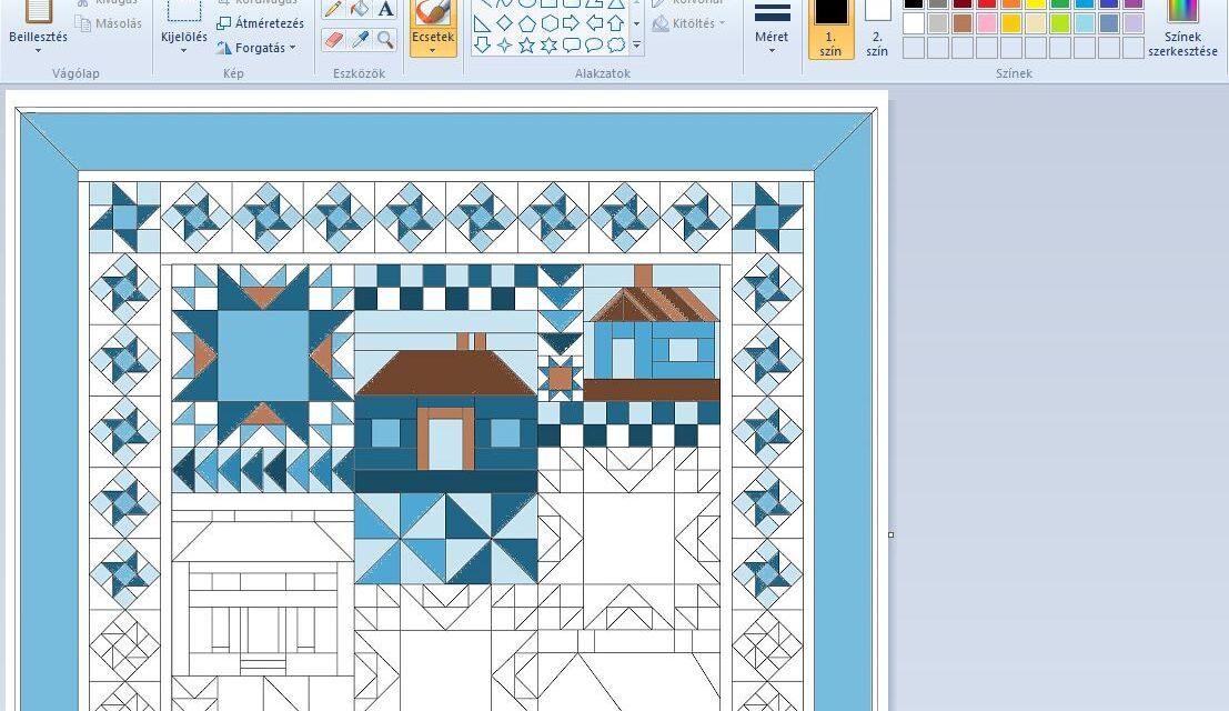 Quilt terv színezése Paint programmal