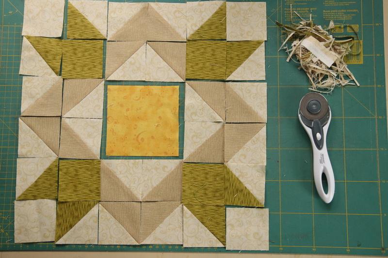 Repcemezők -felezett négyzetek varrása